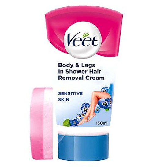 Veet In Shower Hair Removal Cream With Aloe Vera Vitamin E For