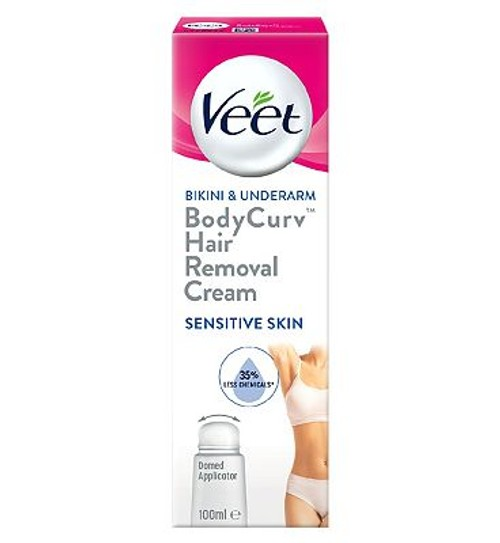 Veet Bodycurv Bikini Underarm Hair Removal Cream For Sensitive