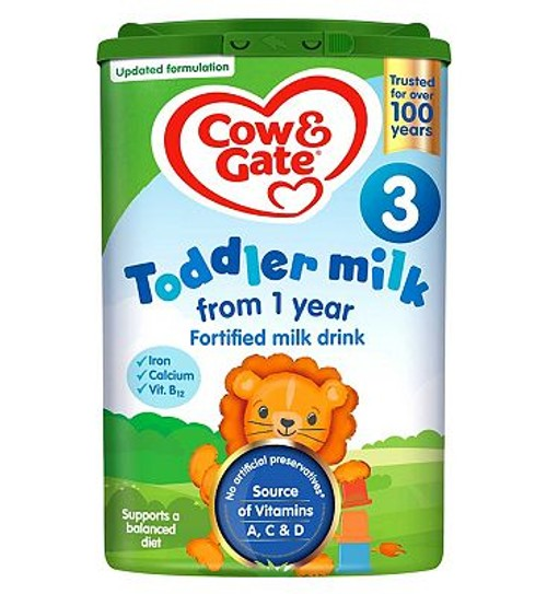 Cow /& Gate Growing Up Milk Stage 4 Fortified Milk Drink 2-3 Years 800g