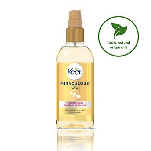Veet Miraculous Oil Pre Post Hair Removal 100ml Compare