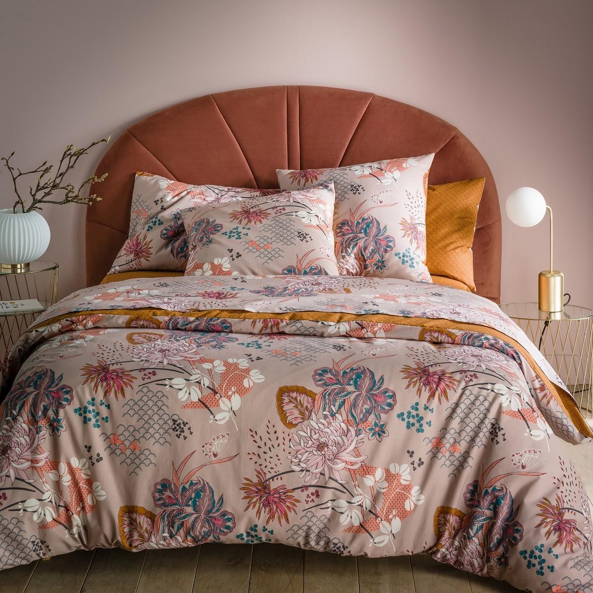 Eden Flower Cotton Percale Duvet Cover