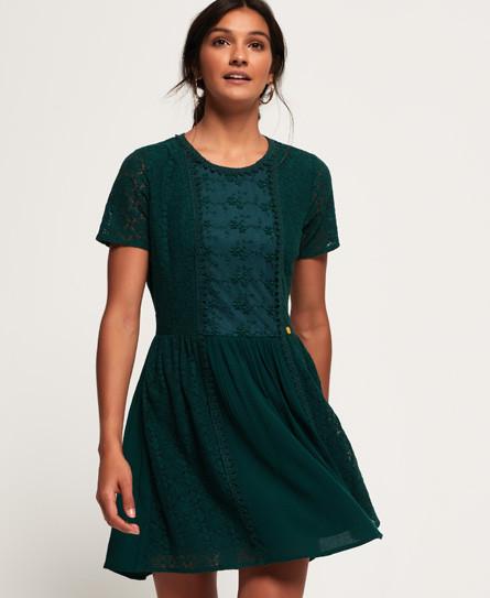 Superdry Womens Katerina Bardot Lace Dress