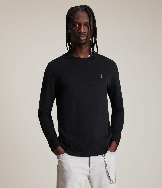 AllSaints Men's Cotton Regular Fit Brace Long Sleeve Tonic