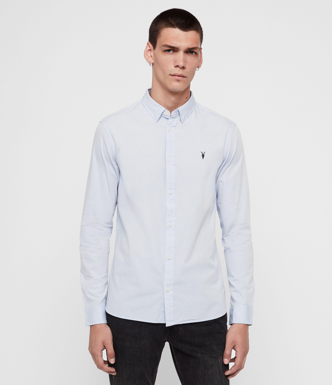 ALLSAINTS Men/'s Redondo Long Sleeve Shirt