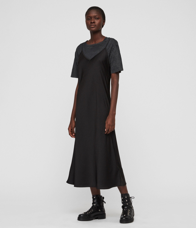 Benno Lin Stripe 2 in 1 T Shirt Dress