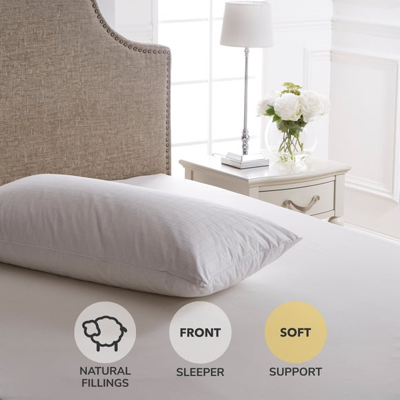 Huggable Soft Support Pillow White