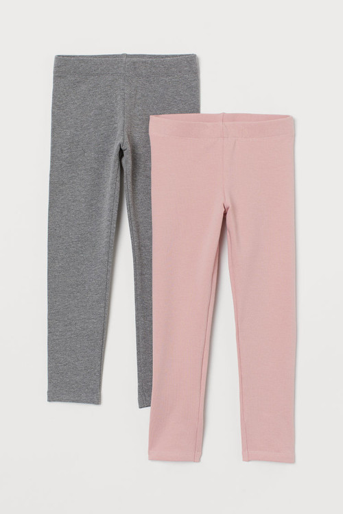 H M 2 Pack Jersey Leggings Pink Compare The Oracle Reading