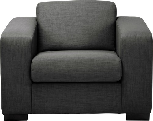Compact 3 Seater Fabric Sofa Charcoal
