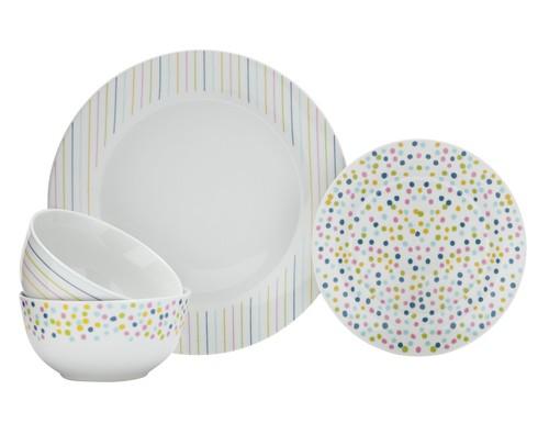 Argos Home Tilda 12 Piece Porcelain Dinner Set Multicoloured.