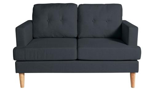 Joshua 2 Seater Fabric Sofa Charcoal
