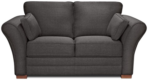 2 Seater Fabric Sofa Charcoal
