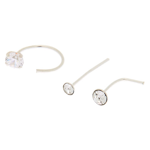 Claire S Sterling Silver 22g Nose Studs Ring 3 Pack Compare