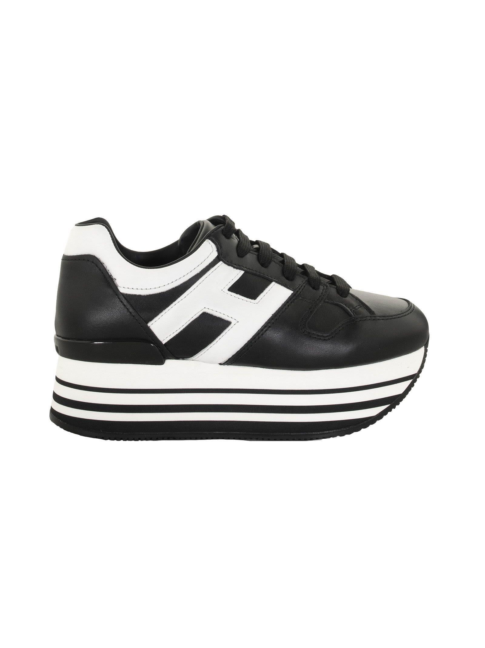 Hogan Maxi H222 Leather Sneakers | Compare | Grazia