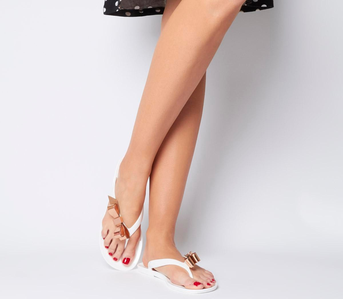 Ted Baker Suszie Flip Flop WHITE ROSE