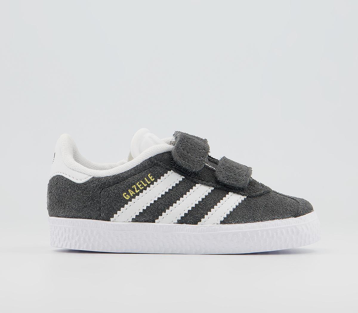 adidas Gazelle 2 Infant Trainers DARK GREY WHITE V   £34.99   One ...