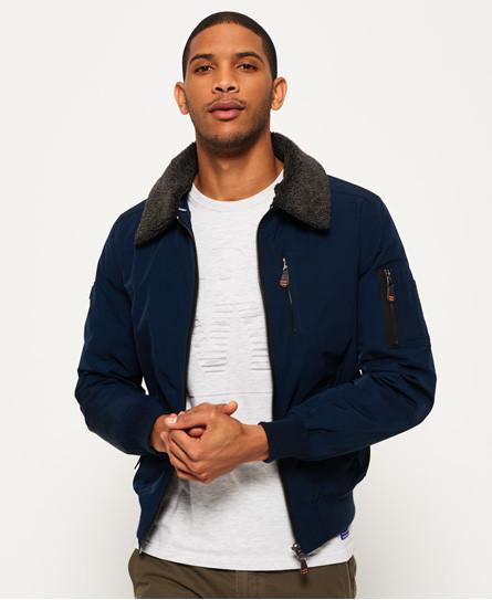 Mens Brody MA2 Borg Collar Black Jacket £44.99