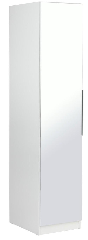 Argos Home Sandon Single Door Wardrobe, Argos One Door Mirrored Wardrobe