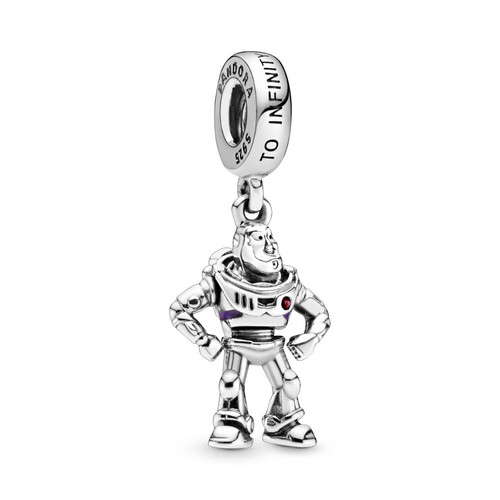 Pandora Disney Pixar Toy Story Buzz Lightyear Dangle Charm - Enamel /  Sterling Silver / Purple / Red | Compare | Highcross Shopping Centre  Leicester