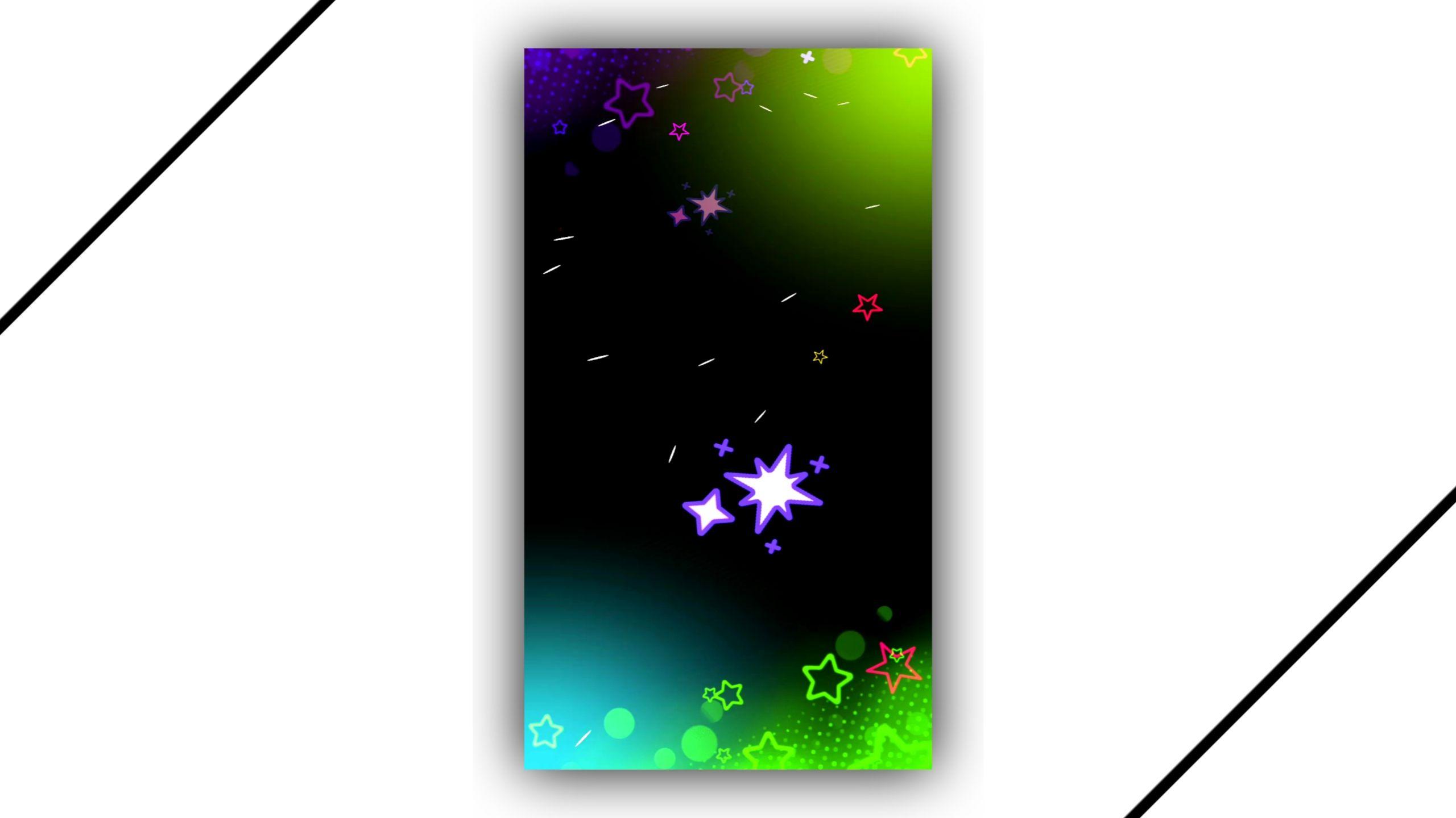 Kids Star Effect Video Black Screen