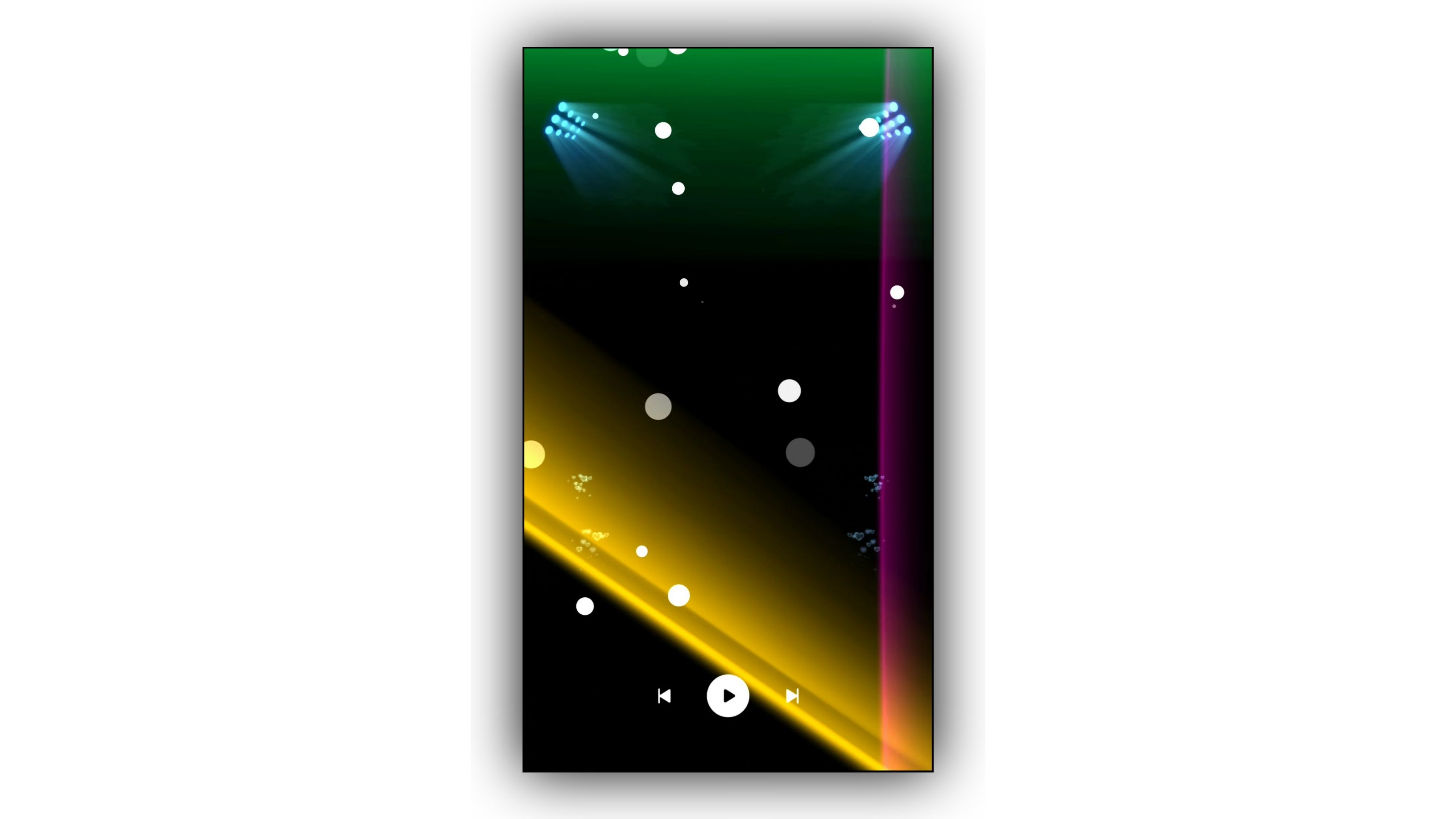 Flashing Lighting Overlay Black Screen Video