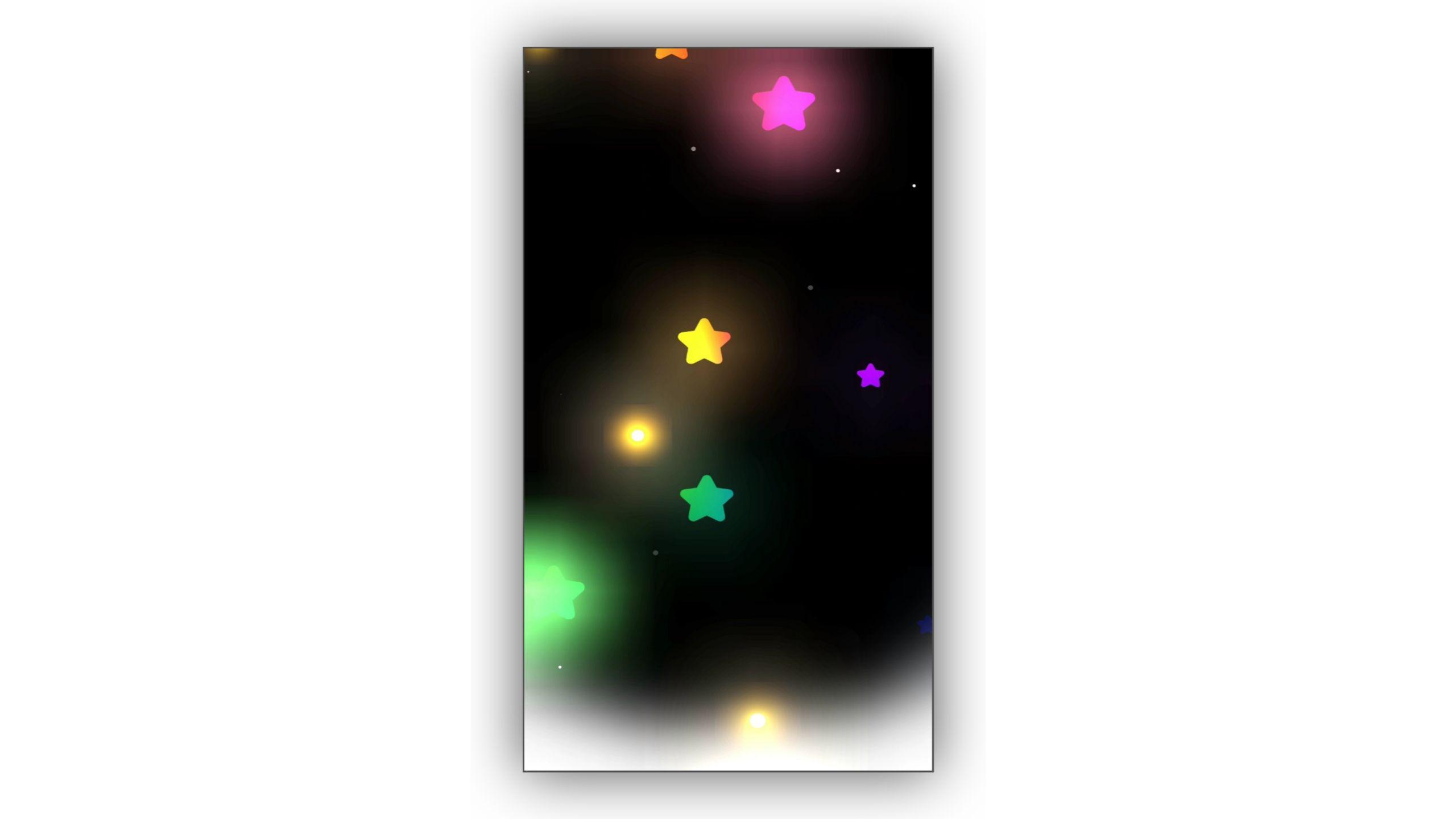Star Drop Radius Glowing Effect Background Video