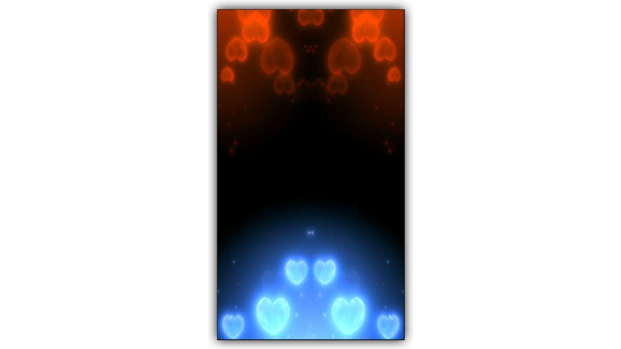 Diamond Heart Particles Kinemaster Template
