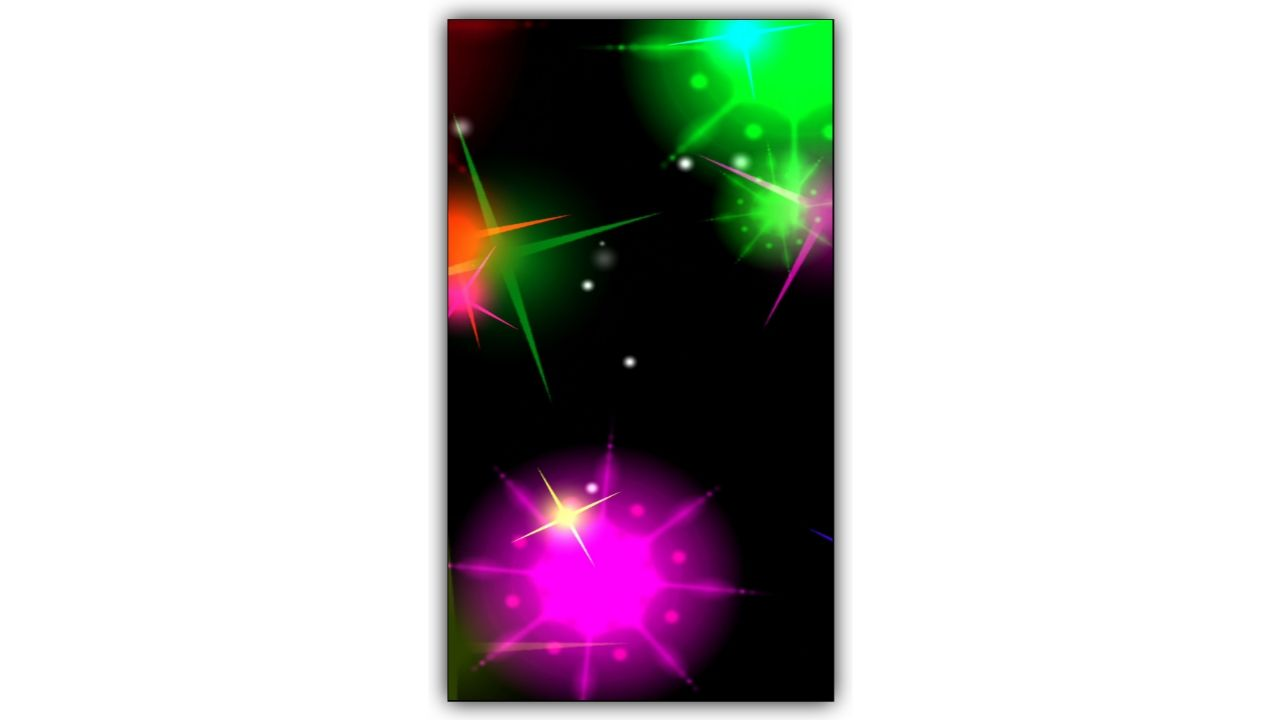 Galaxy Star Light Drop Kinemaster Template