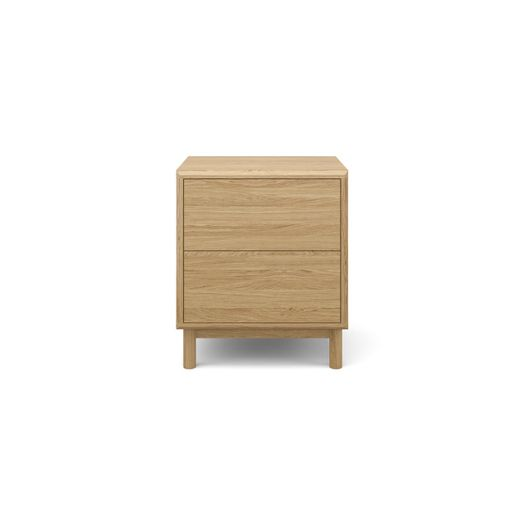 watch c98da c89ed Cato Bedside Table Two Drawers Natural Oak