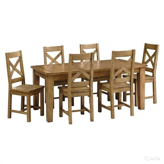 Picture Of Selma Solid Timber 7 Piece 180cm Dining Table Set