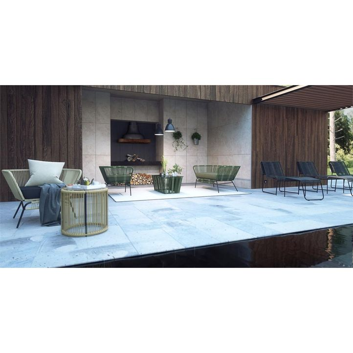 Picture Of Tenerife 3 Piece Outdoor Setting 2x Dining Chairs With Coffee Table Dark Green
