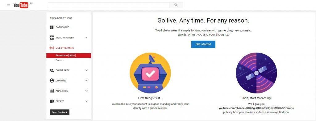 youtube new livestreaming setup