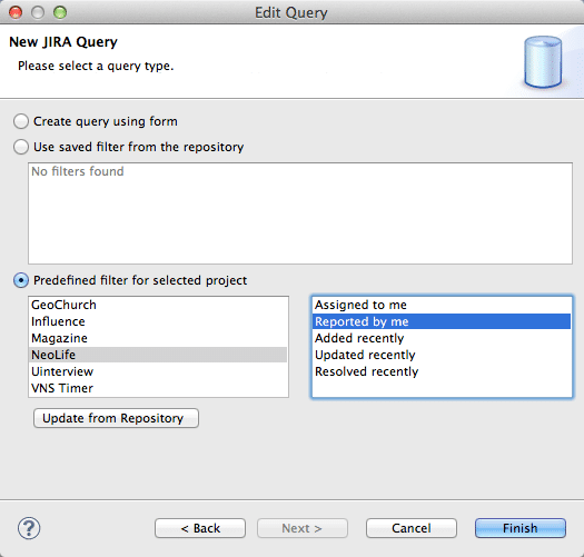 example jira connector query