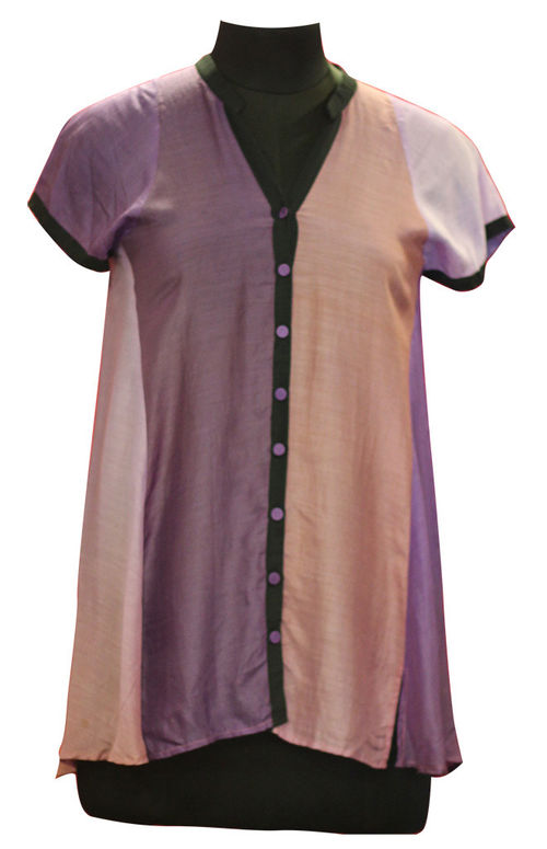 Shades of purple in Silk Voile Shirt