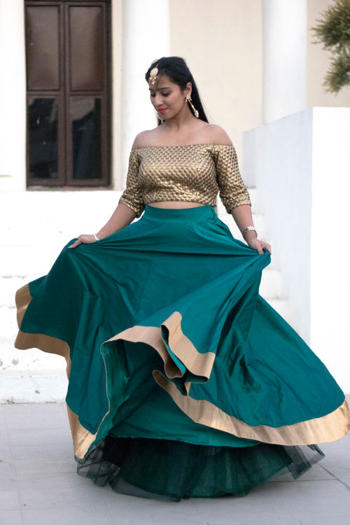 Crop Top and Lehenga Set