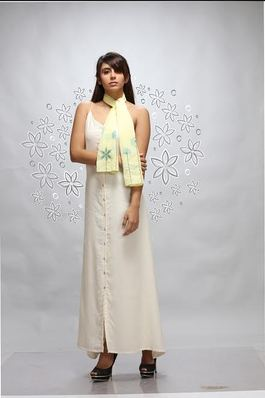 Ivory Dress with Stole