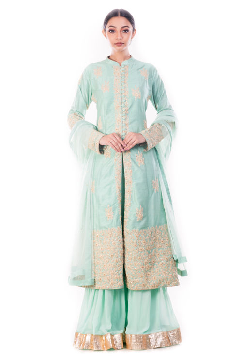 Aquamarine Kurta & Sharara Pant Set