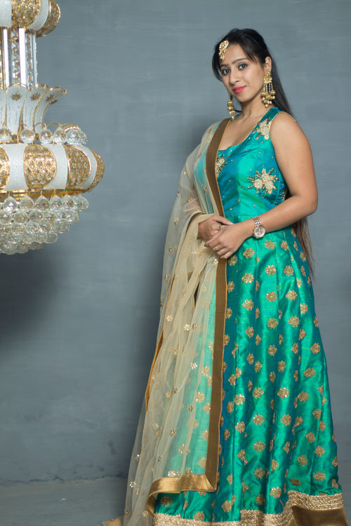 Peacock Green Kalidar Anarkali