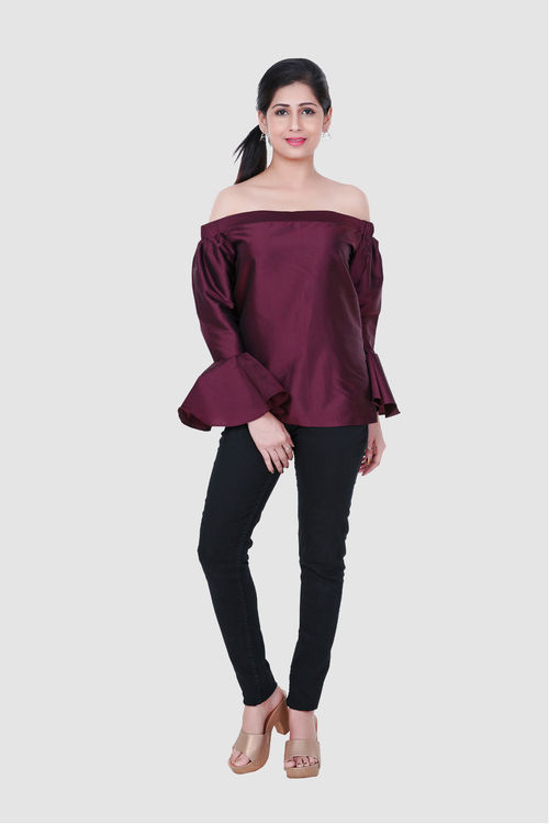 Off shoulder wine tunic