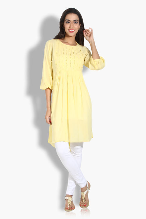 Puff sleeve cotton kurta