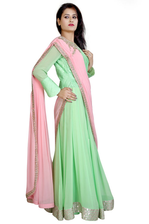 Mint Anarkali Gown