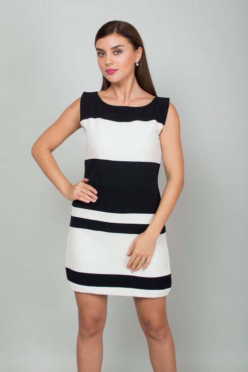 Bold Prison Stripe Dress