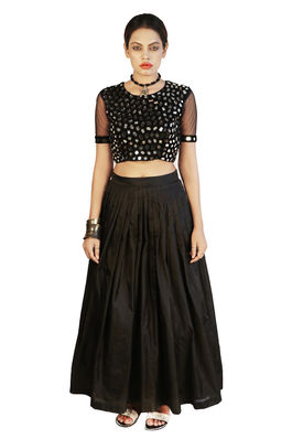 Mirror crop top and skirt