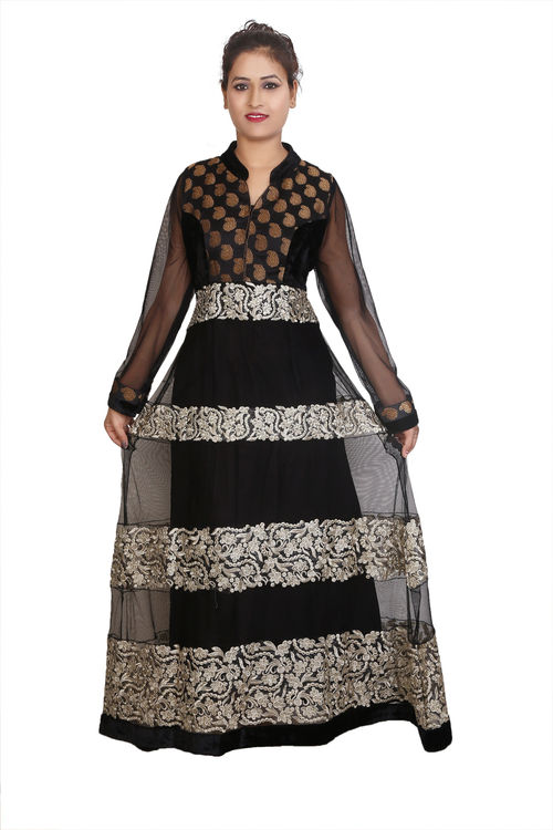 Black and Golden Anarkali