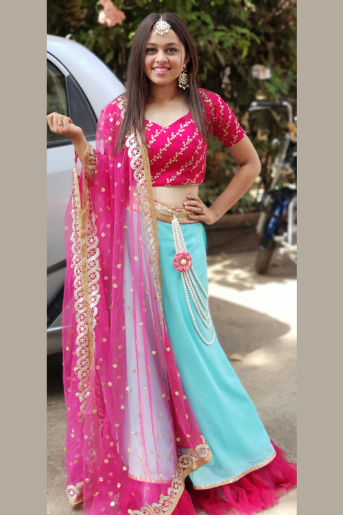 Ghagra With Embellished Dupatta set