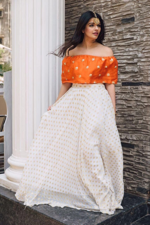 Mia's off-shoulder Lehenga set