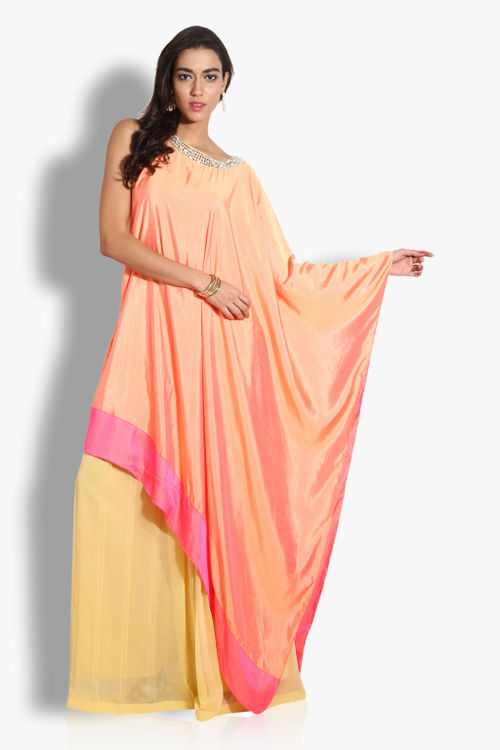 Two Tone Cape with Palazzos