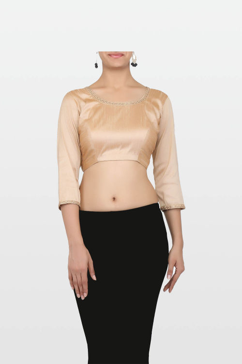Golden Raw Silk Blouse