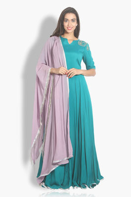 Anarkali Style Gown with Dupatta