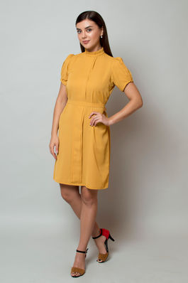 Mandarin Mustard Dress