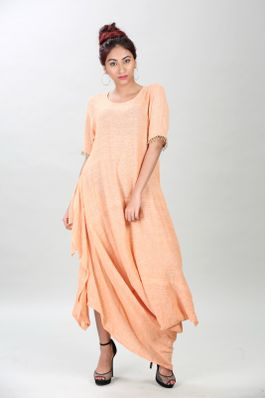 Cotton cowl dress